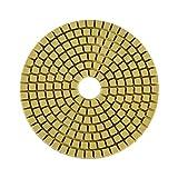 Muela abrasiva, 100Mm 4'Fuerza de esmerilado fuerte y suavidad Almohadilla de pulido para discos de esmerilado de diamante mojado para granito(# 6)
