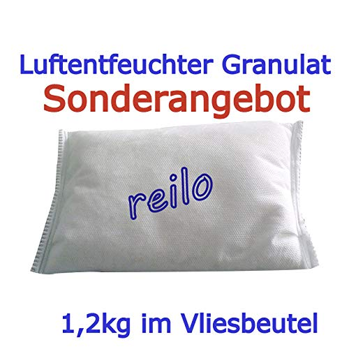10x 1,2kg Luftentfeuchter Granulat im Vliesbeutel, Nachfüllpack für Raumentfeuchter Boxen, einzeln verpackt in Polybeutel