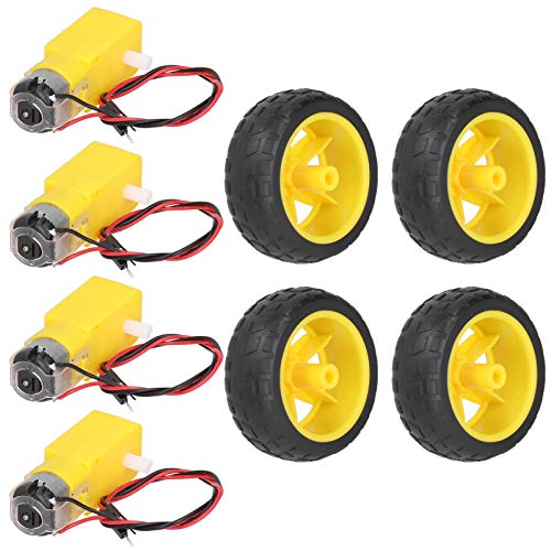 Rueda de plástico para neumáticos de coche RC Piezas de robot de coche inteligente DIY para arrancar el motor para herramientas eléctricas