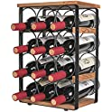 X-cosrack Rustic 12 Bottles Wine Holder Rack