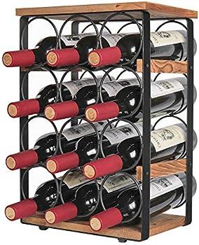 X-cosrack Rustic 12 Bottles Wine Holder Rack