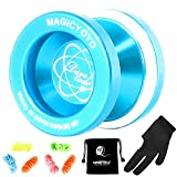 MAGICYOYO Unresponsive Yoyo N8, Dare to Do Professional Yoyo Aluminum Metal Yoyo Spin Yoyo for Kids Advanced Yoyo Players + Yoyo Glove + Yoyo Bag + 6 Yoyo Strings