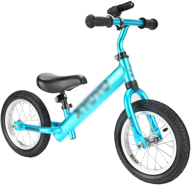marca de lujo Balance Bike para Niños, sin sin sin pedaleo Ciclos para Niños con Manillar y Asiento Ajustables, Bicicleta para Niños pequeños (Color   Azul)  toma