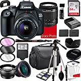 Canon EOS 4000D DSLR Camera with 18-55mm f/3.5-5.6 Zoom Lens , 64GB Memory,Case, Tripod and More (28pc Bundle)