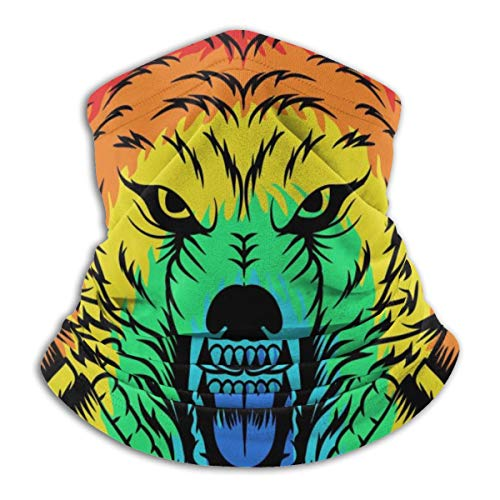 Colorful Headphones Wolf Angry Neck Warmer Gaiter...