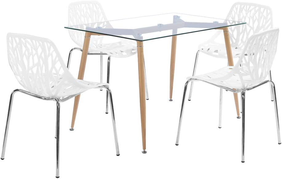 Max 62% OFF Modern Dining Chairs Set of 4 Armless SEAL limited product Nest Birds Side Stackable