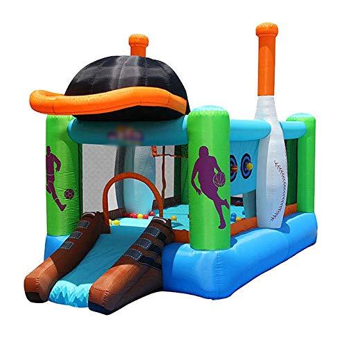 YM963 Castillo Hinchable con el Ventilador, PVC Paño casa de la Despedida tobogán for niños y Adultos (427 * 246 * 283cm) Aire Libre y Deportes