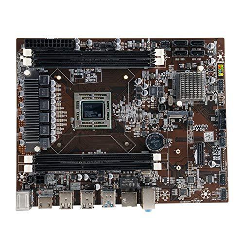 WERTYU Placa Base de Escritorio APU R7 350 GPU de Placa Base ComboSupport DDR3 2.35GHz En comparación con I5 7400 Rendimiento Conjunto de Alta Placa Base de procesadores de computadora
