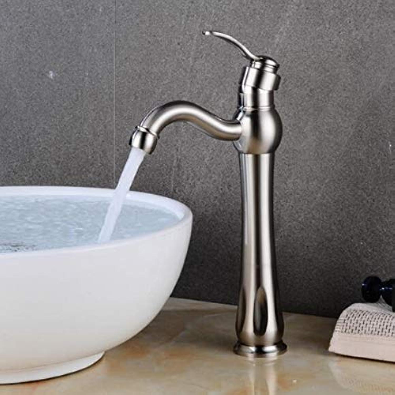 Lddpl Wasserhahn Becken Wasserhahn Waschbecken Wasserhahn Einhand-Loch Chrom Wasserhahn Waschtischarmaturen Deck Vintage Wash Hot Cold Mischbatterie Kran