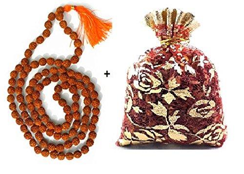 New Age Japa Mala–Collar 7mm | auténtico indio 108cuentas | hand-picked | rosario para chanting