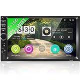 Podofo Radio Coche 2 DIN Android 9.0,WiFi Bluetooth Autoradio 7 Pulgadas 1080P HD Pantalla Táctil,GPS Reproductor MP5 2G + 16G con Mirror Link,Radio FM,Control del Volante