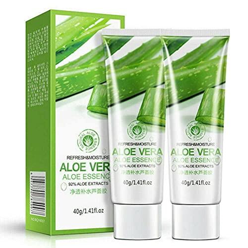 2 Piezas De Gel De Aloe Vera Orgánico Puro, Gel De Aloe Vera Natural, Crema Facial Hidratante Calmante, Gel Hidratante Para Eliminar Las Cicatrices Del Acné