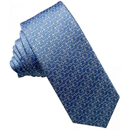 Corbatas Finas Pala de Seda. Corbatas Finas Hombre con Motivo Fantasía en color Celeste.