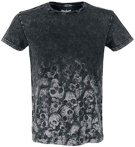 Black Premium by EMP Rebel Soul Homme T-Shirt Manches Courtes Gris foncé L