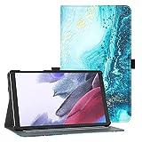 TiMOVO Tablet Schutzhülle Kompatibel mit Samsung Galaxy Tab A7 Lite 8.7 inch Tablet 2021(SM-T220/T225/T227), Ultra Dünn Hülle Schlank Hülle mit V-Tasche Rillen Ständer Hülle Stoßfest Hülle, Vergoldend