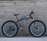 Nieve bicicletas, 26 '/ 24' Big Mountain Bike Rueda, 7 velocidades de doble freno de disco, fuerte con amortiguador delantero Tenedor, al aire libre fuera de la carretera bici de la playa 6-24, E, 24