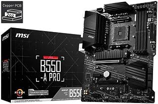 MSI B550-A PRO ProSeries Motherboard, AMD AM4, DDR4, PCIe 4.0, SATA 6Gb/s, M.2, USB 3.2 Gen 2, HDMI/DP, ATX