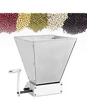 Graanmolen, 7 liter, handmatige instelbare maaleenheid, voor thuisbrouwen, schrootmolen, korenmolen voor het brouwen van gerst, tarwe, mot, rijst, druiven