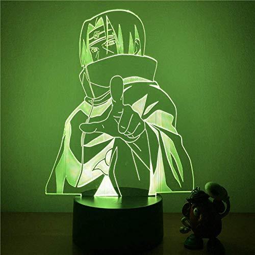 3D Led Nachtlicht Naruto Sasuke Itachi Action Figure 7 Farben Touch Optische Täuschung Tischlampe Dekoration Modell