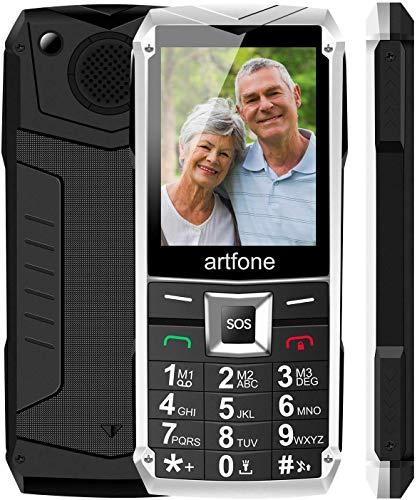 Artfone Teléfono Móvil De Botón Grande para Teléfono Móvil Desbloqueado para Personas Mayores y Mayores, con Botón SOS Radio FM De Pantalla Gran