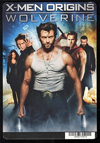 X-Men Origins Wolverine Movie Store Card Display Blockbuster DVD Deadpool
