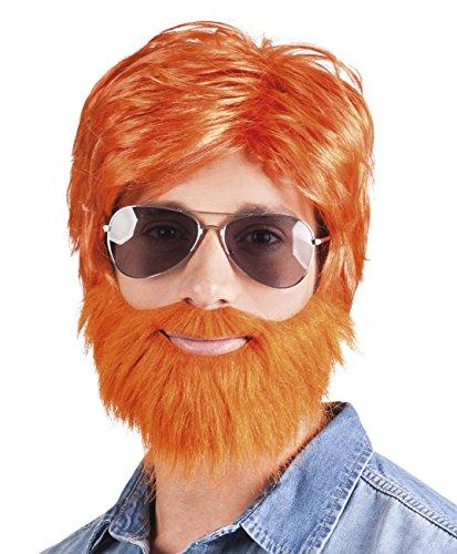 Boland Perruque Dude 10103079 - pour Adulte - Orange - Taille Unique