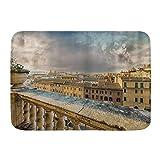 JOSENI Alfombra Decorativa para el Baño,Vista panorámica del Centro histórico de Roma Desde el Antiguo balcón,Alfombrilla Antideslizante,75 x 45 cm