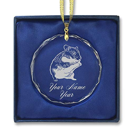 LaserGram Christmas Ornament, Hamster, Personalized Engraving Included (Round Shape)