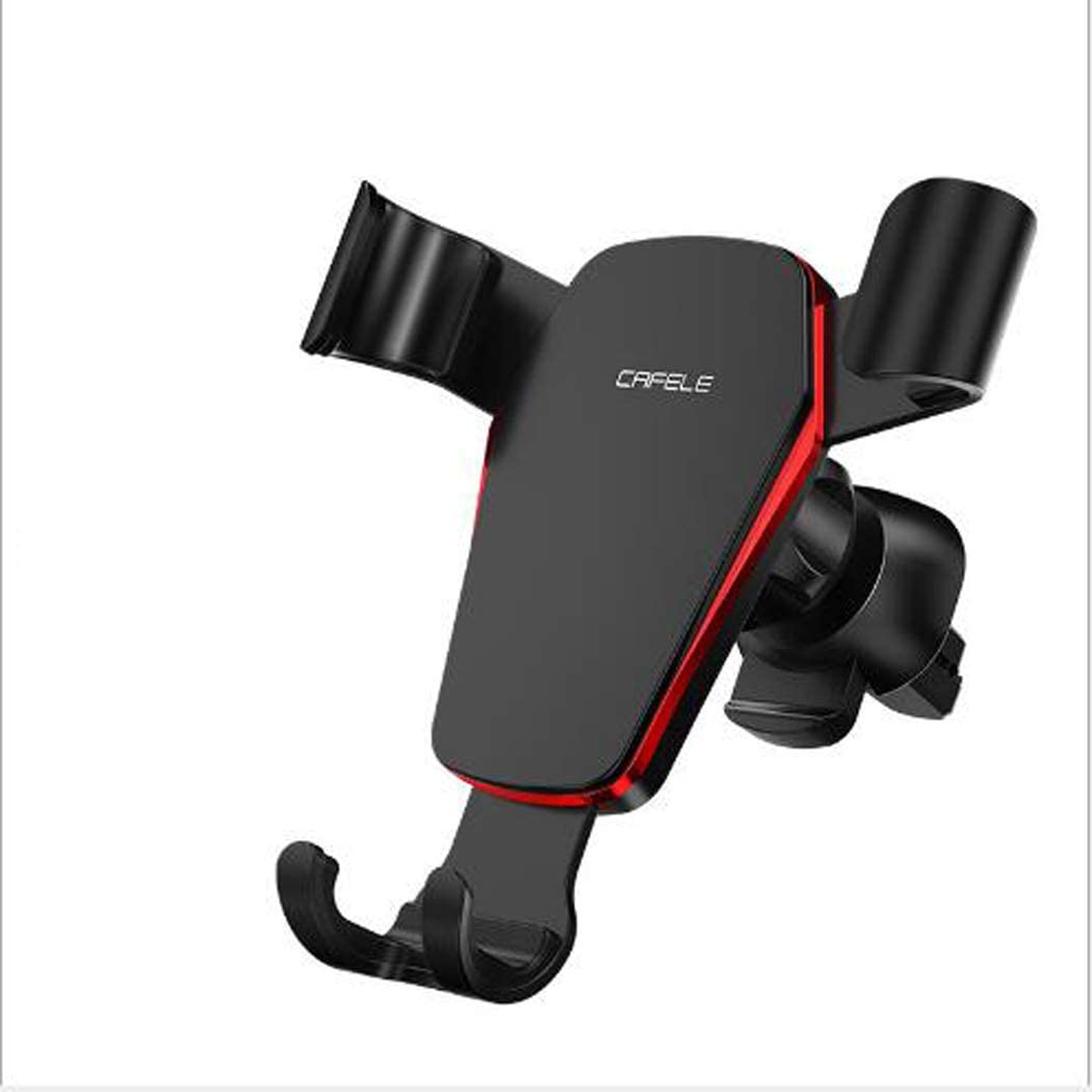 GZJ Gravity Car Phone Holder,360/° Rotation Adjustment Phone Mount Compatible with iPhone Xs XS Max XR X 8 8 SE 6S 6 6 5S 4 Samsung S10 9 8 7 6 5 4 LG Huawei,Black 7 7