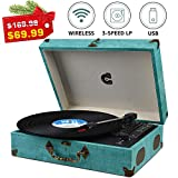 Best Portable Record Players - Record Player with Speakers Turntable Wireless Portable LP Review