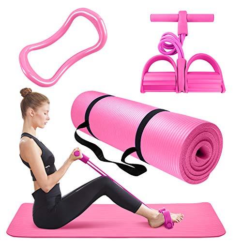 Thick Yoga Mat 3 Piece Set - Inc...
