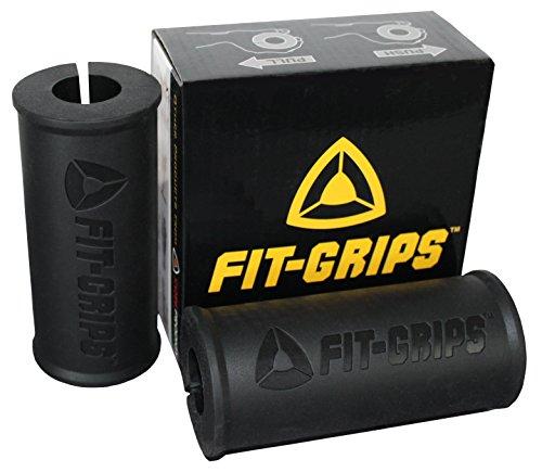 Core Prodigy Fit Grips 2.0Fat épais Barre Big Grips d'haltérophilie, Noir