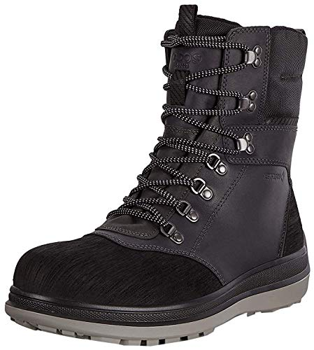 ECCO Men's Roxton Winter Gore-Tex Snow Boot, Black/Dark Shadow/Primal G, 42 M EU (8-8.5 US)