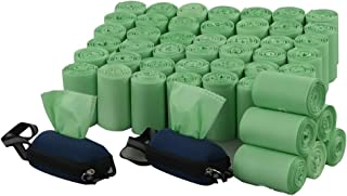 Lesbin 1000 Count Green Biodegradable Poop Bags, Compostable Dog Waste Bags with 2 Dispenser