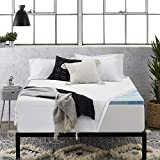 Sleep Innovations 2.5-inch Gel Memory Foam Mattress Topper 100% Cotton Cover, Twin, Made in The USA
