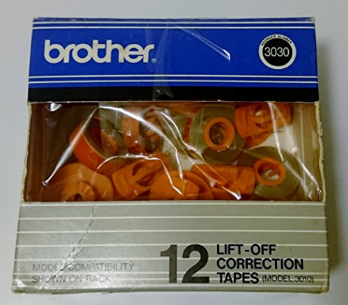 Brother Model 3010 Lift-Off Tapes, Pack Of 12