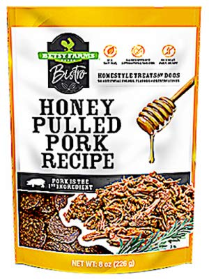 Betsy Farms Bistro Honey Pulled Pork Recipe Dog Treats 8oz