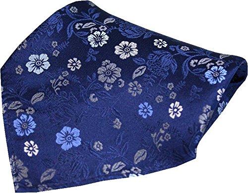 Posh and Dandy Fleurs de la marine Mouchoir de soie de luxe de