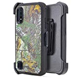 6goodeals Galaxy A01 Case 3 in 1 Belt Clip Holster Cell Phone Case Heavy Duty Hybrid Shockproof Bumper Case with Kickstand for Samsung Galaxy A01 (Camo)