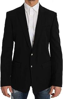 Dolce & Gabbana Black Wool Martini Coat of Arms Blazer Jacket - Black - IT50 | Large