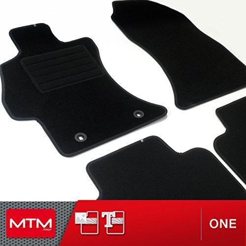 MDM Fußmatten XV ab 2012- Passform wie Original aus Velours, Automatten mit Absatzschoner aus Textile, Rand rutschhemmender, cod. One 3394