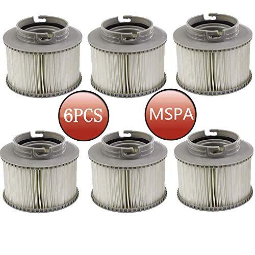 Filterkartusche für Spa-Whirlpools oder Pools, Ersatz-Filterkartuschen für MSpa Bubble Spa Whirlpools (6 Stück)