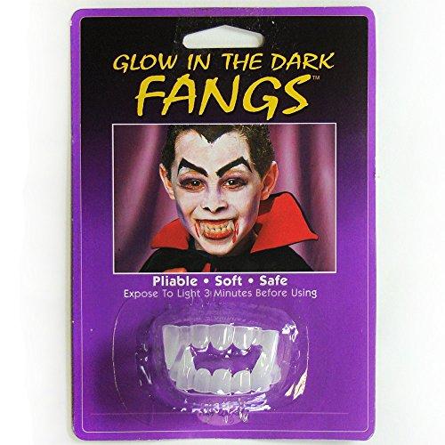Fun World Glow In The Dark Fangs Dracula Teeth – 1.75″L, 1.1″W