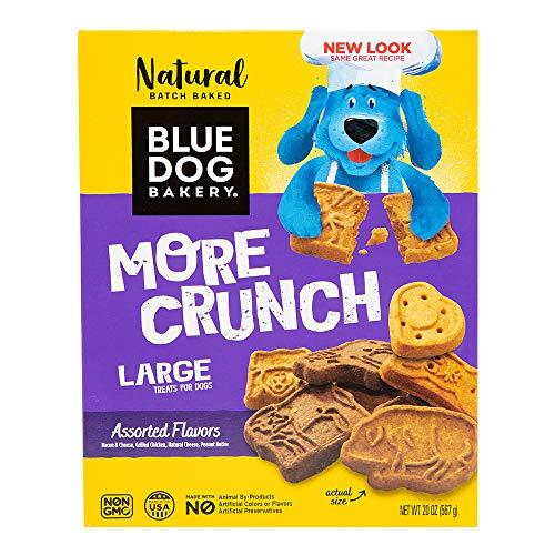 Blue Dog Bakery Natural Dog Treats, More Crunch Large, Assorted...