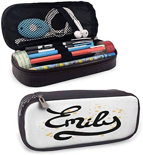 Zwischenfedermäppchen Hand Drawn Monochrome Kursivguß Moderne Kalli Signature Design-Schreibtisch-Aufbewahrungsbehälter W3.5xL7.9, Color_10