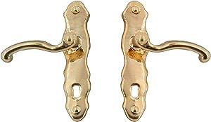 Melody Jane Dollhouse Brass Lever Door Handles Mini Mundus Miniature Knobs Door Furniture