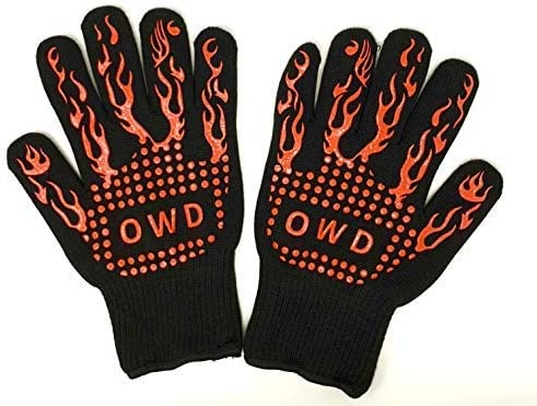 Heat Resistant Grilling Gloves Kitchen Grill Silicone Non Slip Gloves Food Grade Handling Heat product image