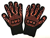 Heat Resistant Grilling Gloves, Kitchen/Grill Silicone Non-Slip Gloves, Food Grade, Handling Heat Food on Your Grill, Fryer or Oven, Professional & Home Uses for BBQ/Grilling/Cooking/Baking