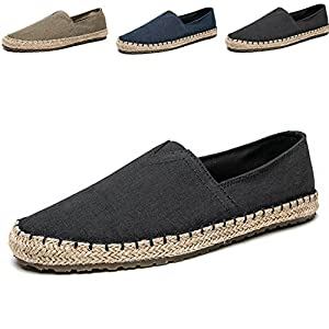 Men's Fashion Casual Cloth Shoes Canvas Slip-on Loafers Espadrille