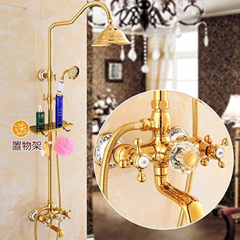 Wandmontierter Duschkopf für Badezimmer mit 8 -Duschkopf + Handbrause + 59  -Duschschlauch